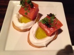 Salmon crostini - yum!
