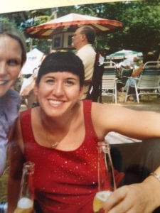 late twenties. Between the tiny bangs and the blonde thing, the twenties were my worst hair decade (so far).