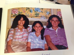 Me and my sisters. I'm the one in the middle!