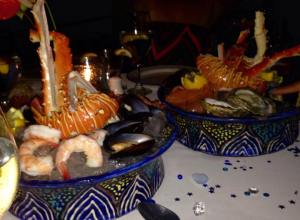seafood tower - DELISH!